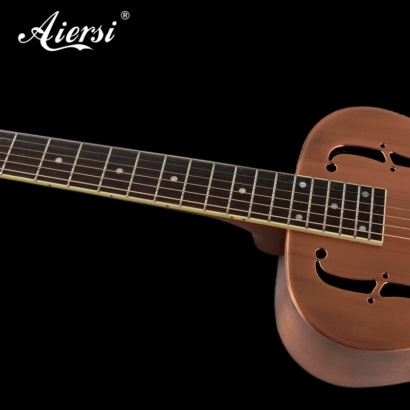 aiersi brand red cupper rust o style blues slide brass resonator guitar model a38 bb aiersi. Black Bedroom Furniture Sets. Home Design Ideas