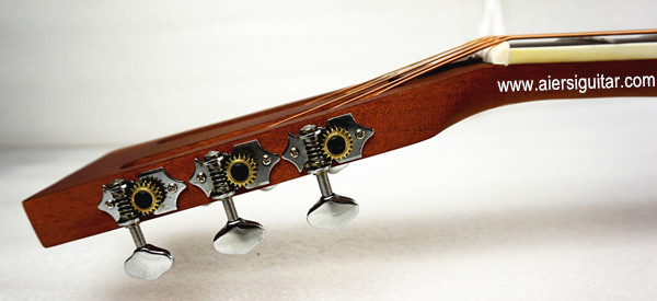 China aiersi chrome -plated gloss brass body single cone dobro guitar (7)
