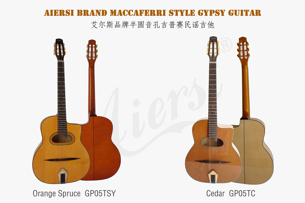 aiersi brand flame maple gypsy guitar for sale (1)