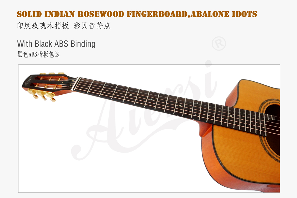 aiersi brand flame maple gypsy guitar for sale (5)