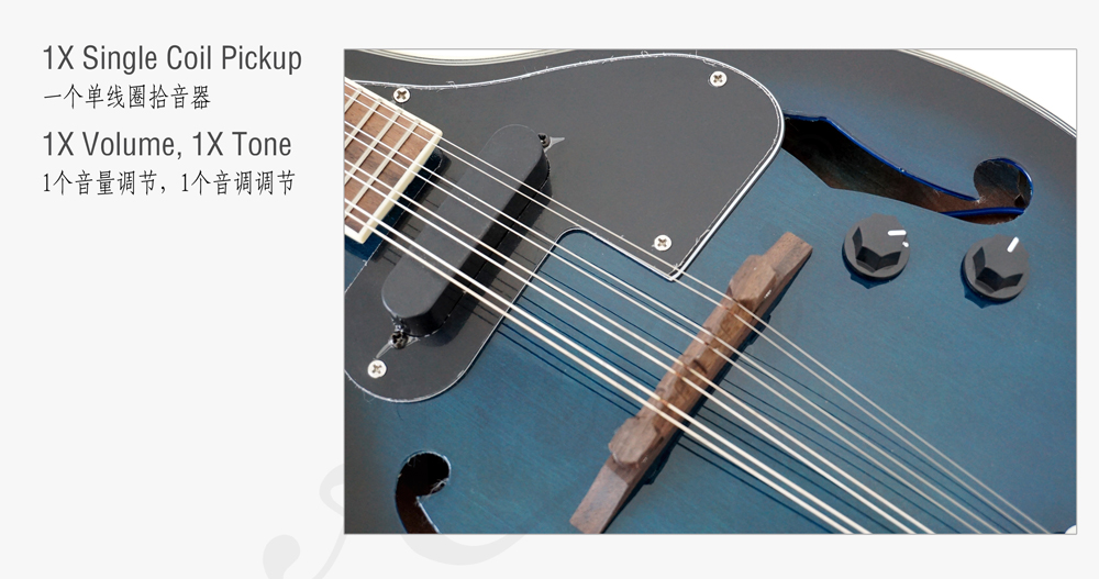 Aiersi brand colour A style electric mandolin  (4)