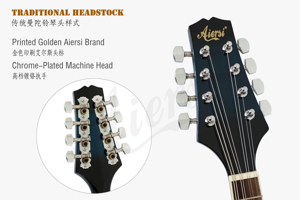Aiersi brand colour A style electric mandolin  (6)