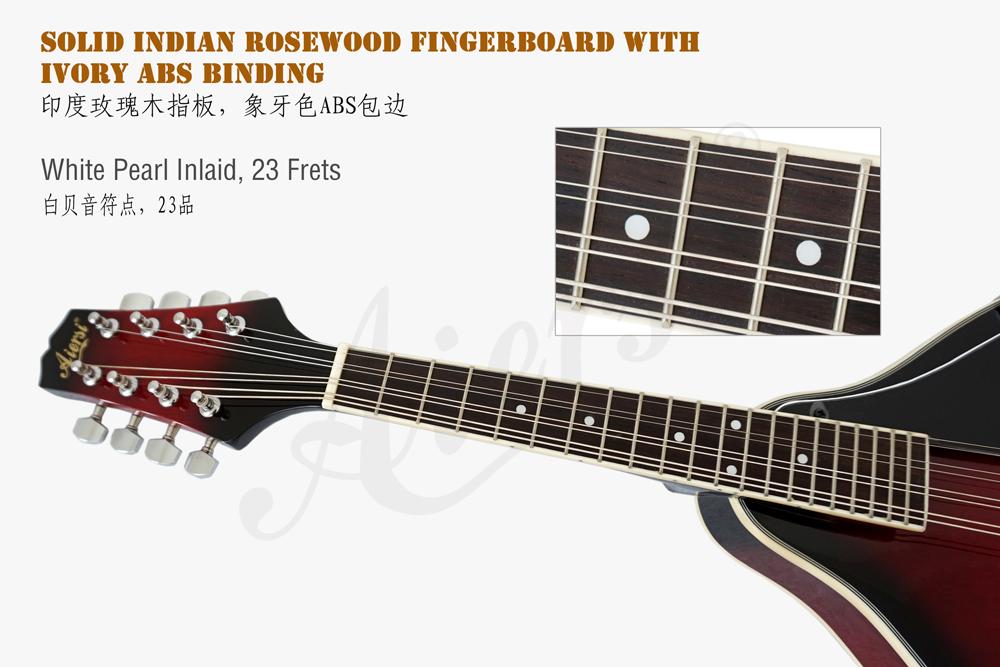 aiersi brand A style mahogany body mandolin for sale (4)