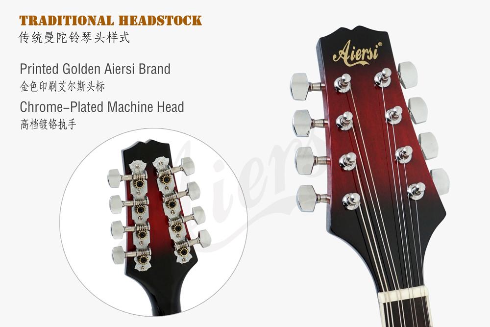 aiersi brand A style mahogany body mandolin for sale (5)