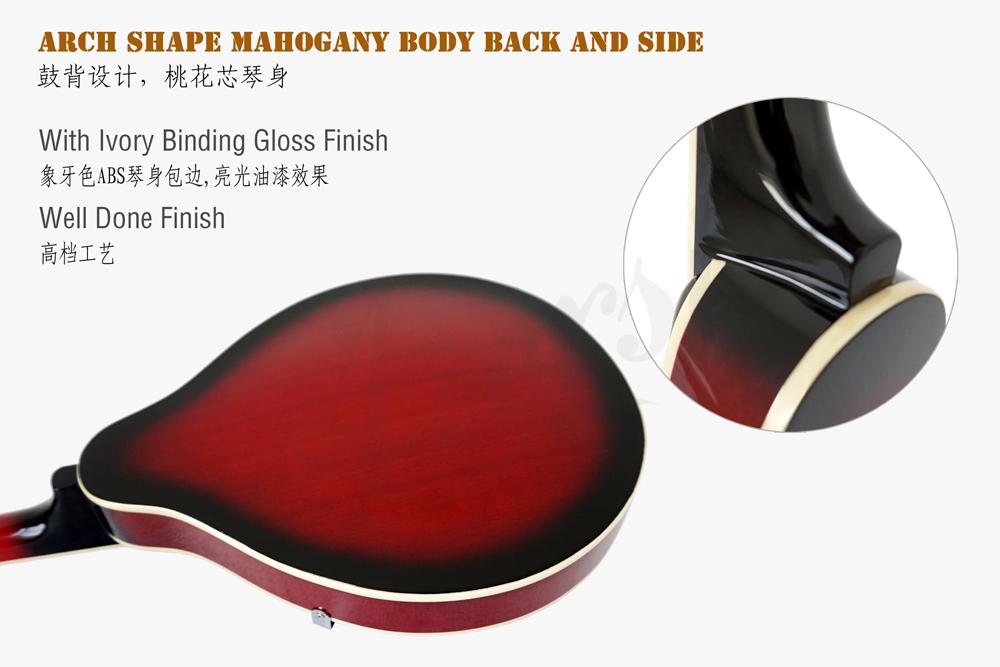 aiersi brand A style mahogany body mandolin for sale (6)