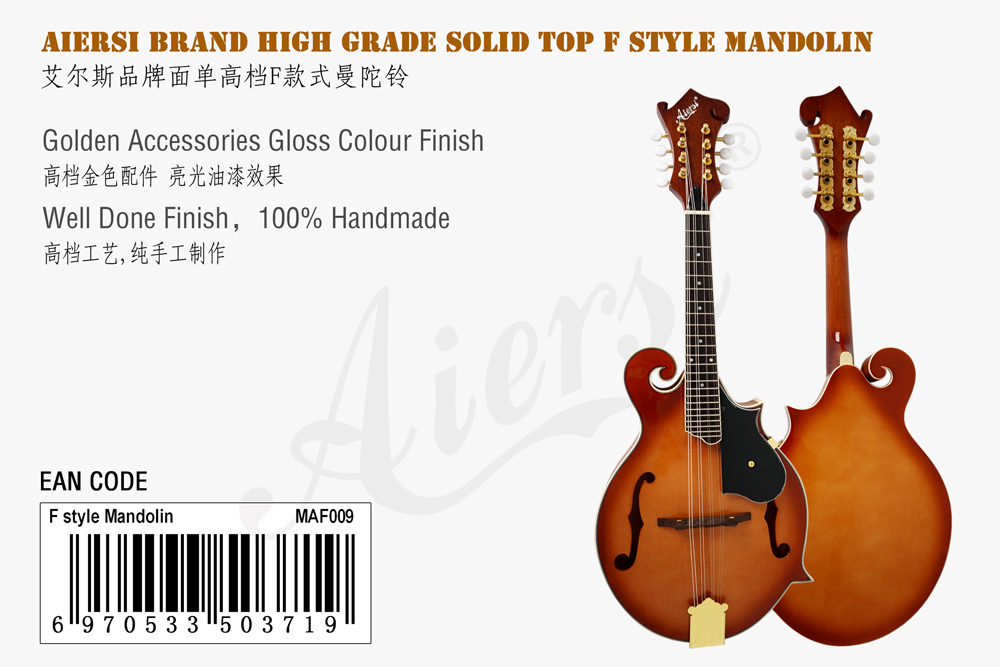 aiersi brand F style solid top mandolin for sale (1)