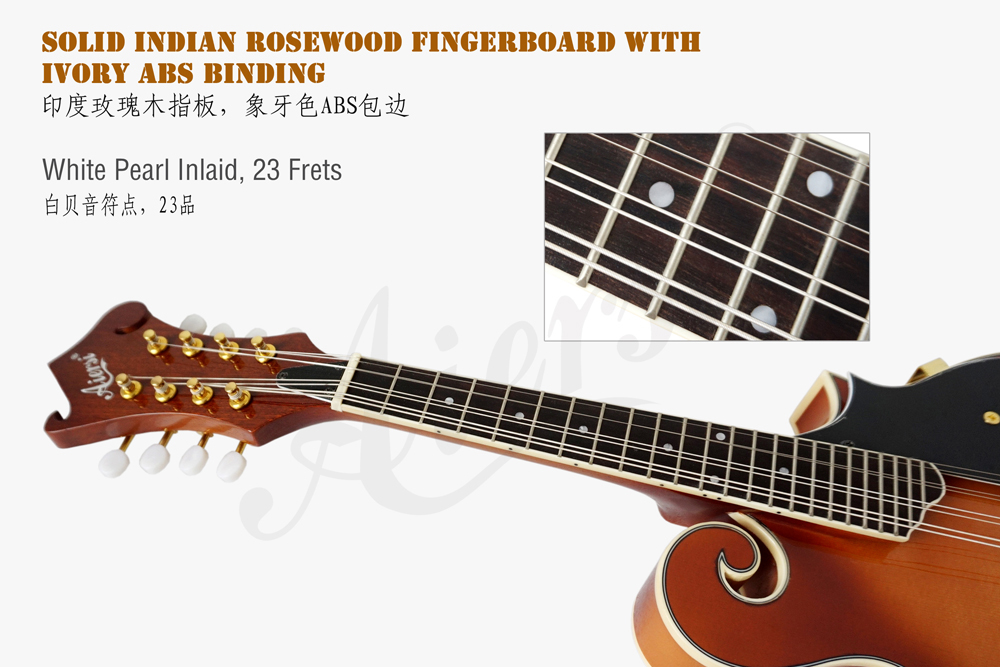 aiersi brand F style solid top mandolin for sale (3)