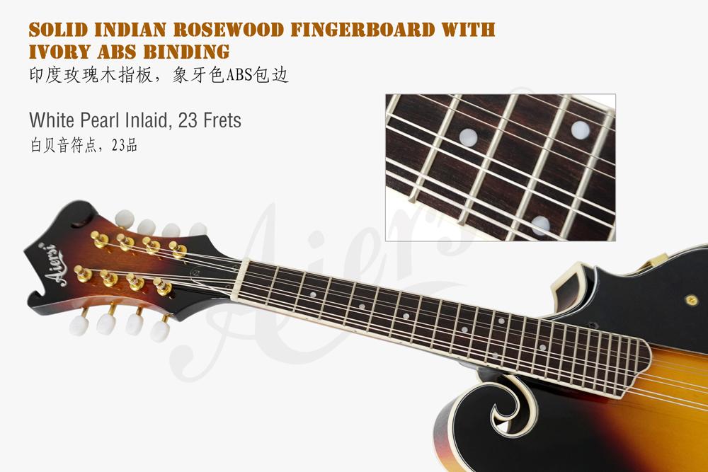 aiersi brand colour plywood body arch body mandolin  (4)