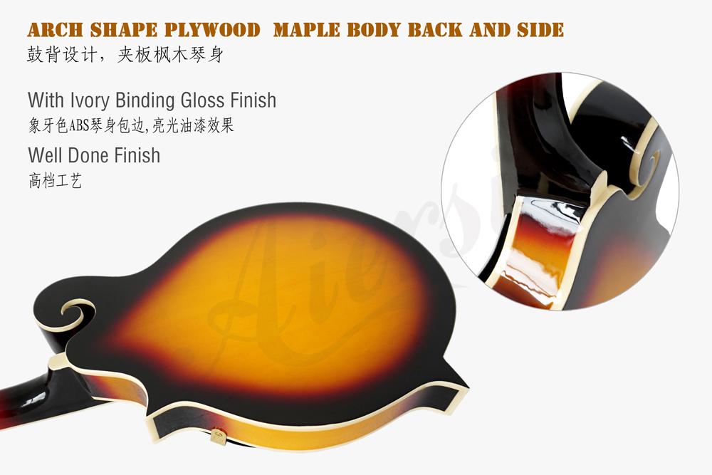 aiersi brand colour plywood body arch body mandolin  (6)