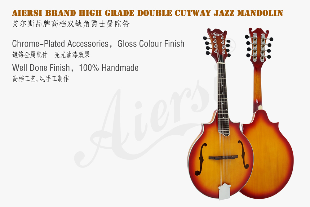 aiersi brand double cutway maple mandolin