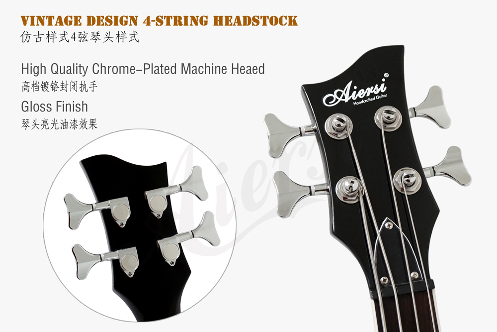 aiersi brand 4-string electric violin bass  (5)