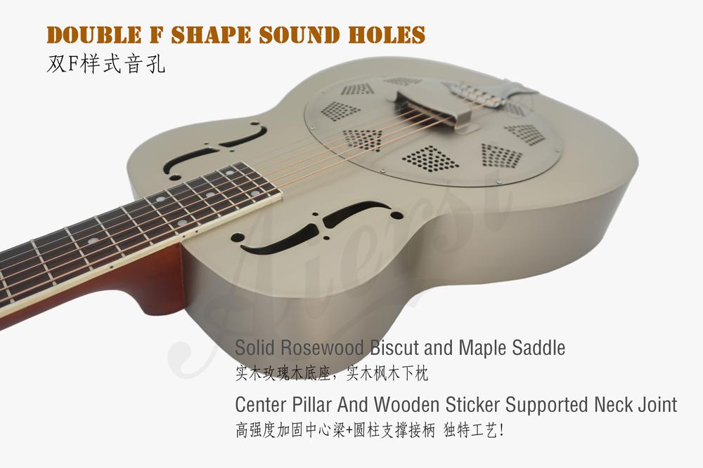 aiersi brand Style O brass body resonator guitar (2)