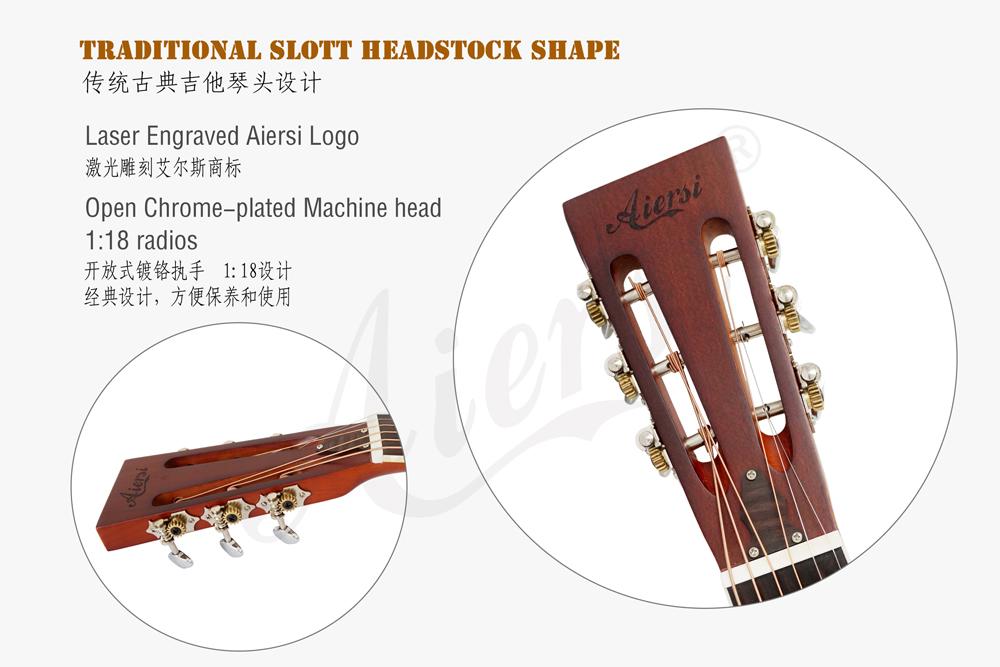 aiersi brand Style O brass body resonator guitar (4)