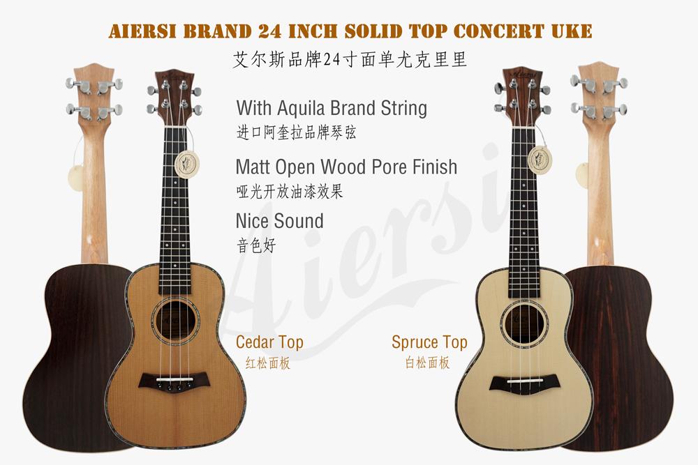 aiersi brand  solid top concert ukulele