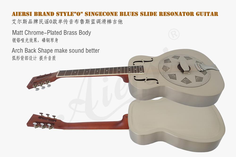 aiersi brass style O resonator guitar (2)
