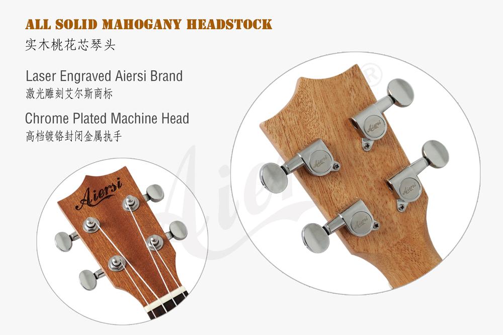 aiersi brand solid spruce concert ukulele for sale (5)