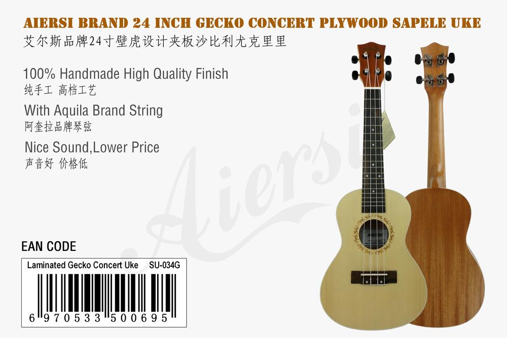 aiersi brand spruce top 24 inch gecko ukulele for sale (1)