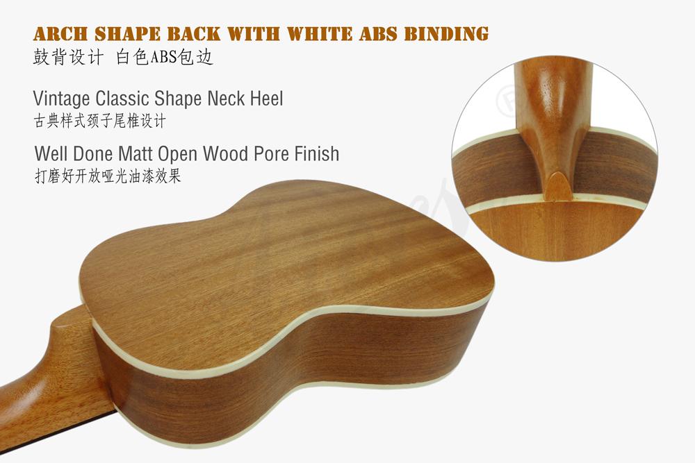 aiersi brand spruce top 24 inch gecko ukulele for sale (3)