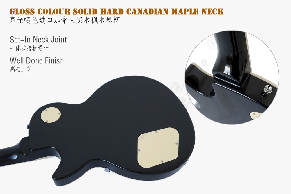 wholesale aiersi brand Arch Body Lp style electric guitar (6)