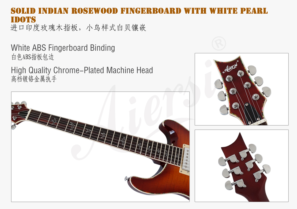 wholesale arch body F hole prs style electric guitar for sale  (5)