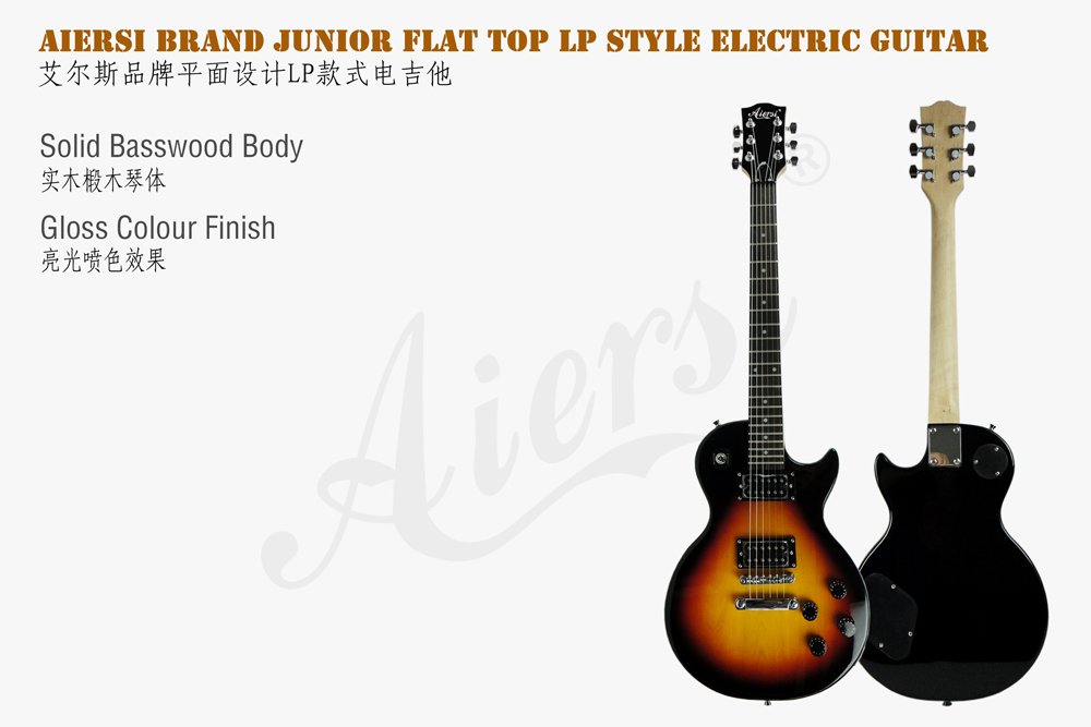 wholesale price LP junior flat top electric guitar  (2)