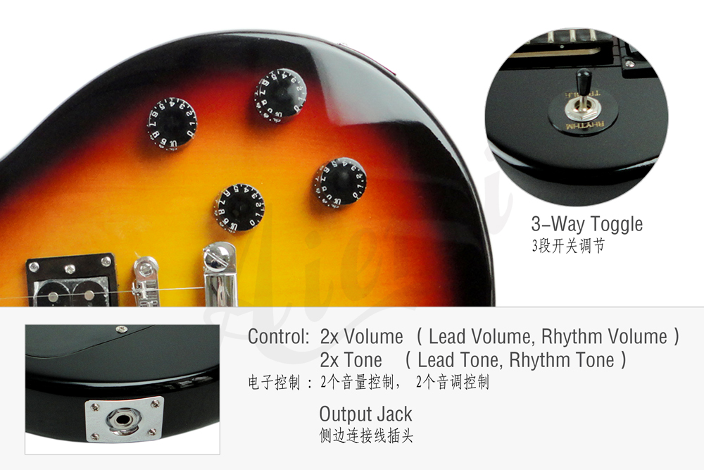 wholesale price LP junior flat top electric guitar  (3)