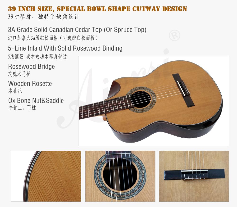 aiersi solid top classical guitar  (3)