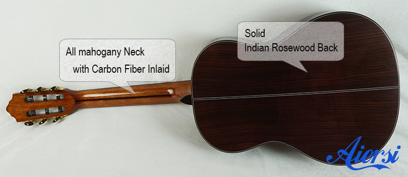 Aiersi High Quality Solid Spanish Classical Guitar