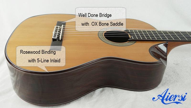 Aiersi  Solid Spanish Classical Guitar Model