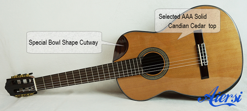 Aiersi  Solid Spanish Classical Guitar
