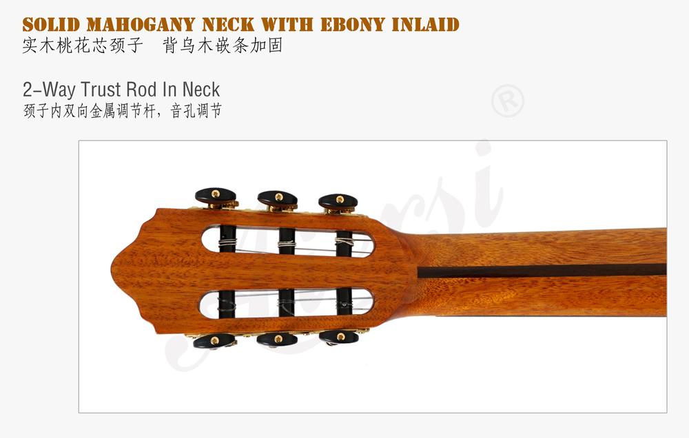 aiersi high grade handmade nylon string classical guitar (6)