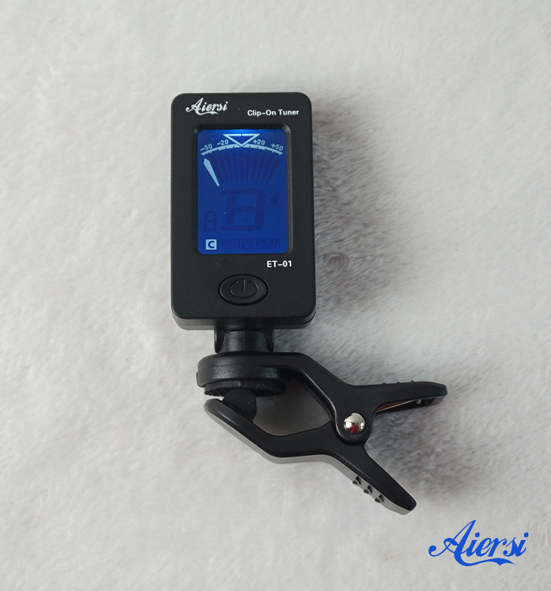 Digital Clip Chromatic Tuner for guitar ukulele violin  (1)