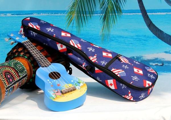 2016 aiersi brand padding color pattern ukulele bag (2)
