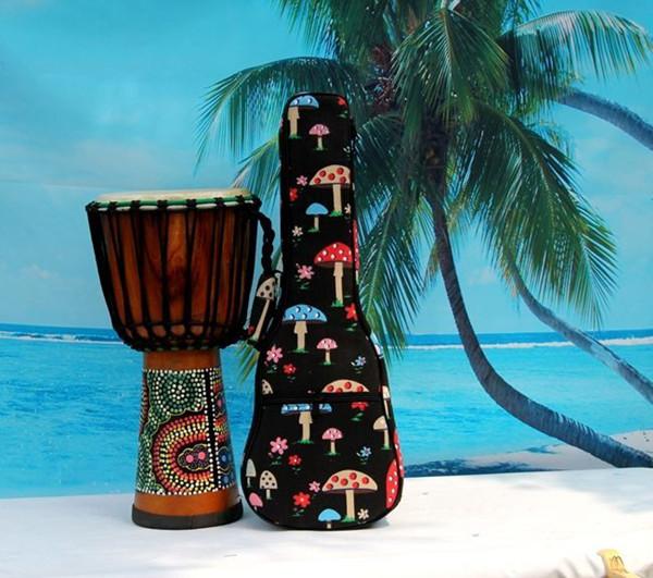 2016 aiersi brand padding color pattern ukulele bag (7)
