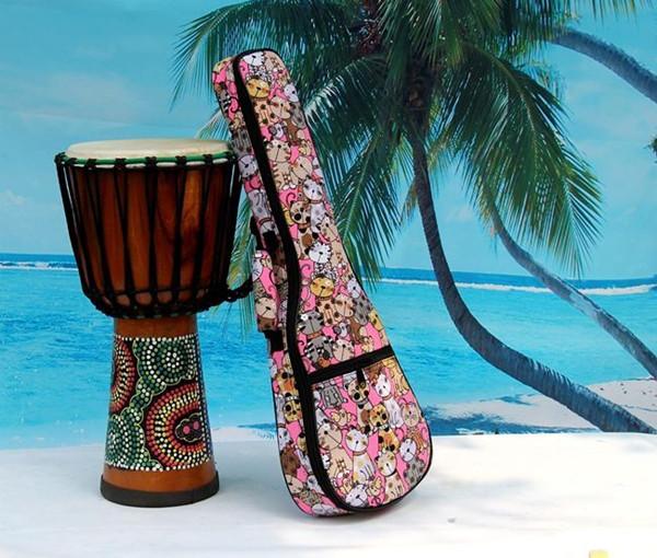 2016 aiersi brand padding color pattern ukulele bag (9)