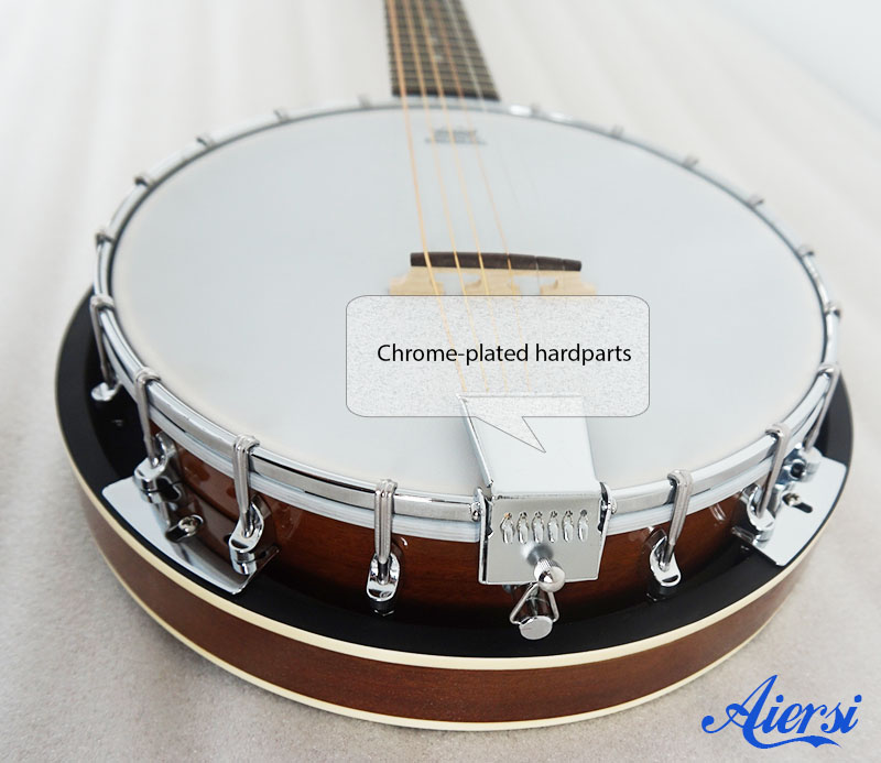 Aiersi 6 string Banjo with 18 Brackets