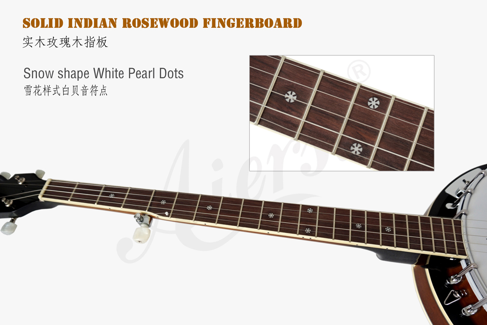 Aiersi brand Fiberboard for high quality 6-string banjo