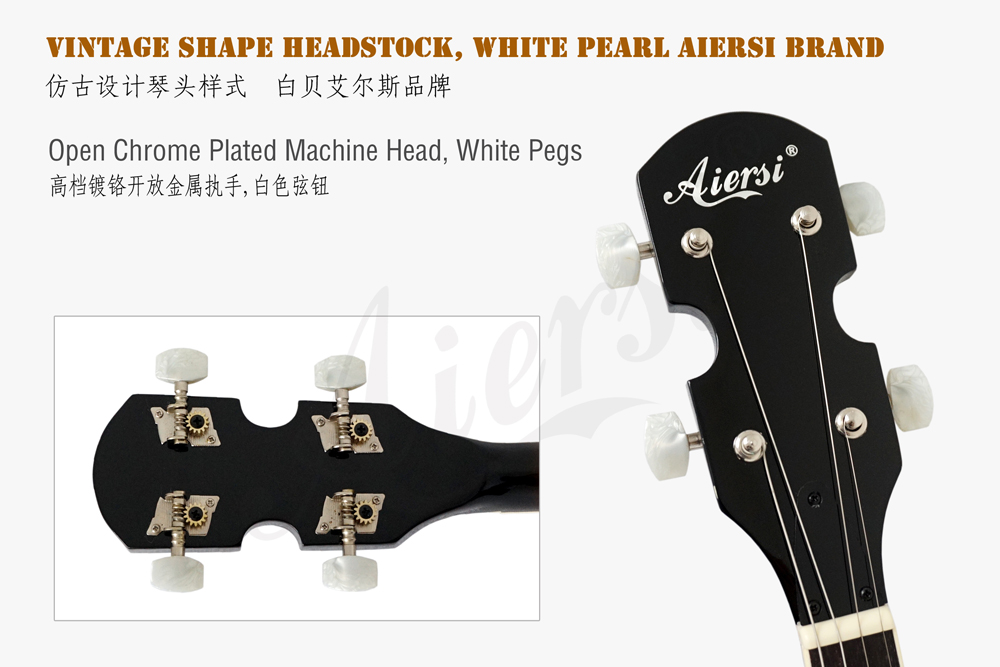 Aiersi brand  headstock for high quality 4-string banjo