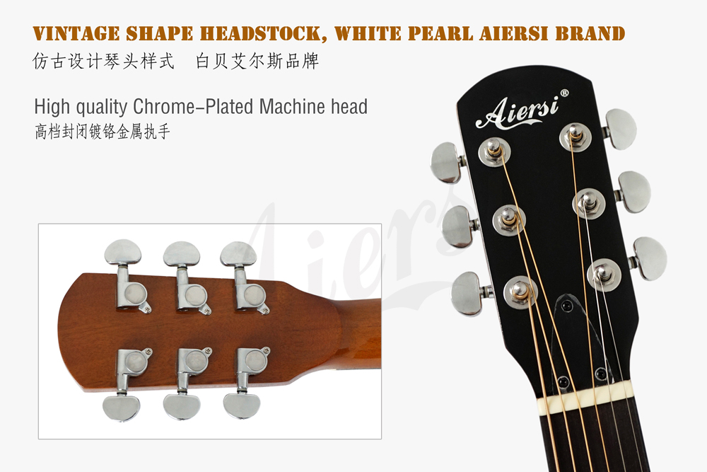 Aiersi brand  headstock for high quality 6-string banjo