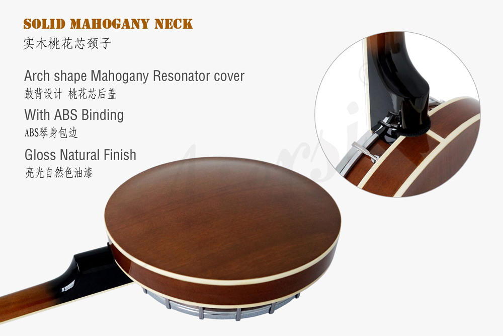Aiersi brand high quality 4-string banjo  with Mahogany Resonator Cover