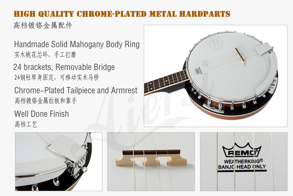 aiersi brand 4-string banjo for sale (3)