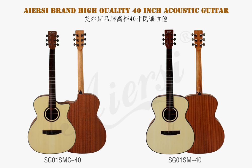 aiersi brand 40 inch OM style acoustic guitar for sale (1)