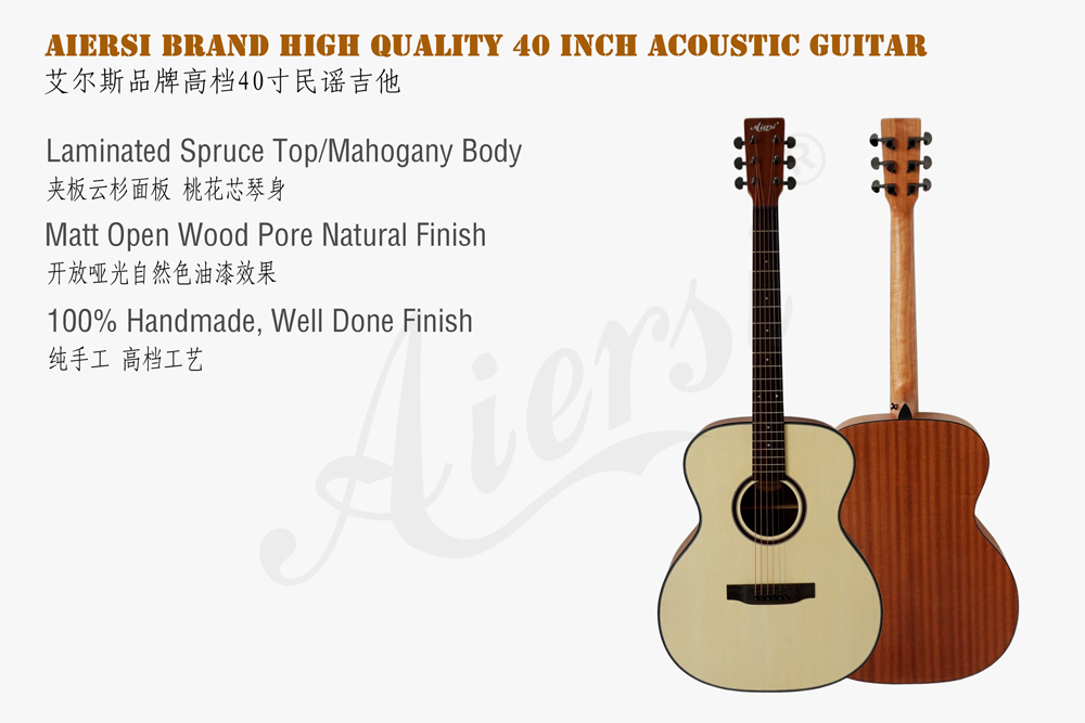 aiersi brand 40 inch OM style acoustic guitar for sale (2)
