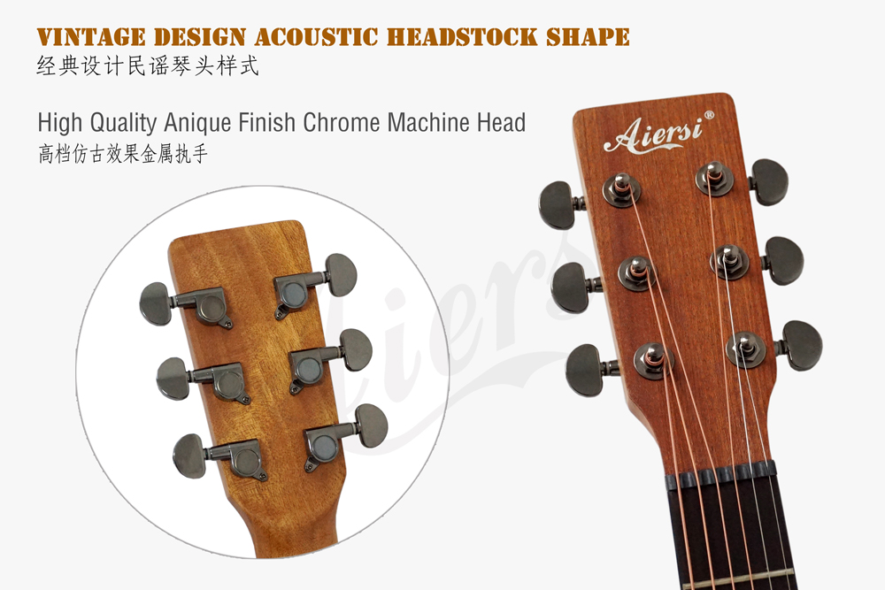 aiersi brand 40 inch OM style acoustic guitar for sale (5)