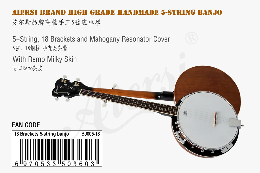 aiersi brand 5-string banjo for sale  (1)