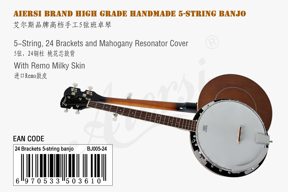aiersi brand 5-string banjo for sale 1
