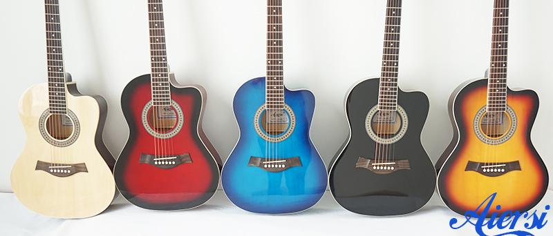Aiersi colour acoustic guitars