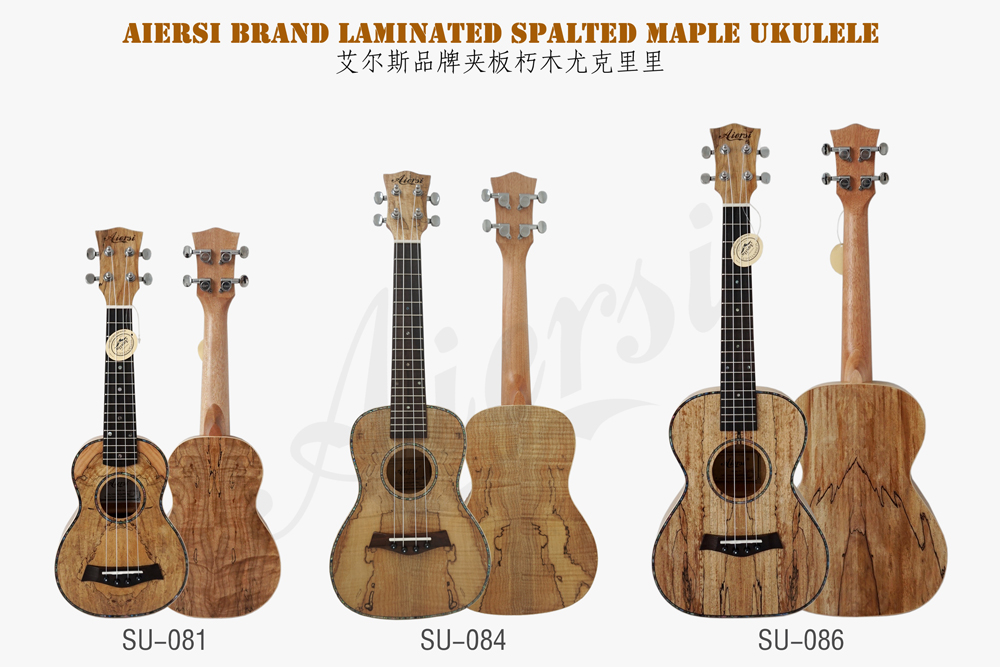 aiersi brand spalted maple acoustic ukulele for sale (2)