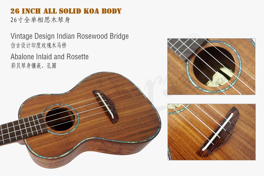 abalone binding all solid koa tenor ukulele  (2)