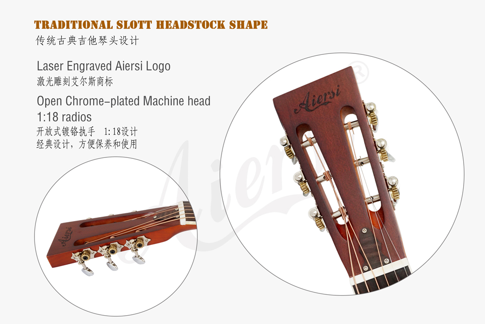 aiersi brand matt finish brass body blues slide resonator guitar (7)